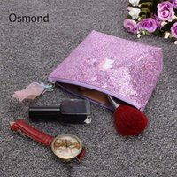 Osmond Hologram Laser Cosmetic Bags Borsa per il trucco delle donne Shining Polyester Cosmetic Cases Fashion Cute Cartoon Pouch Travel Case