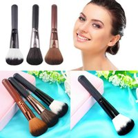 ZE68501 1 Nylon Professional Make Up Beauty Face Powder Wooden Handle Multi-Function Blush Brush kabuki blending makeup brushes Cosmetic Tool