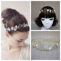 Wholesale Lace Headpieces For Brides - No Fade Crystal Bridal Headpiece Tiaras Hair Accessories Rhinestone Tiaras For Wedding Jewelry Bridal Accessories Headpiece For Brides