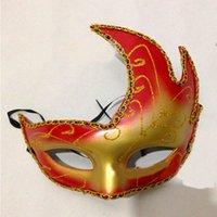 Wholesale Venice Masquerade Carnival - Sexy Fox Venice Carnival Mask PVC Colored Drawing Party Halloween Masks Man Woman Children Masquerade Mask