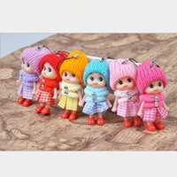Wholesale boy girl soft toys online - 100pcs cm NEW Kids Toys Soft Interactive Baby Dolls Toy Mini Doll For girls and boys Keychain