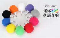 Wholesale Balloon Speakers - 3.5mm Portable Music Sponge Balloon Mini Ball Speaker Loudspeaker For iphone 6 5s iPod MP3 MP4 PC