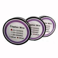 Wholesale Best Resistance - Best Clapton Wire Resistance Wire 15 Feet 22+32 24+32 26+32 Gauge Heating Wires for DIY Rebuildable RDA RBA E Cig Atomizer