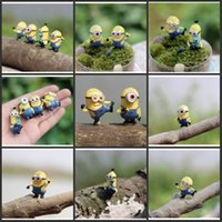 Wholesale Despicable Figurines - DIY Micro Landscape Despicable Me House Figurines Flower Pots Dish Garden Bonsai Terrarium Decorations gift mix 4 Styles E363L