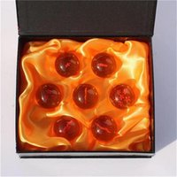Wholesale Dragonball Box - 3.5CM New In Box DragonBall 7 Stars Crystal Ball Set of 7 pcs Dragon Ball Z Balls Complete set