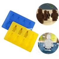 Wholesale Unique Ice Trays - Unique DIY Ice Cube Tray Chocolate Ice Mold Maker Bar Party Drink Lego Man Style