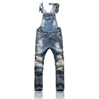 Wholesale Men S Denim Overalls - Front Pocket Design Relaxed Front Pocket Design Relaxed Fashion Denim Overalls For Men Overalls For Men