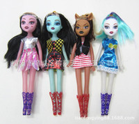 Wholesale Play House For Girls - Monster High Dolls Action Figure dolls Toys Moveable Joint Body play house tools With retail boxes Christmas gifts for girls