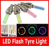 2PCS Firefly Spoke Valve Wheel LED Stem Cap Tire Mouvement Neon Light Lamp For Bike vélos Auto Moto.