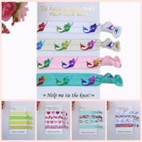Wholesale Hair Accessory Cards Wholesale - 4 Pcs Per Set 40 Pcs Per Lot (10 Sets )Foe Fold Over Elastic Hair Ties with Card ,Welcome Custom Printed Fashion Hairbands Children Headwear