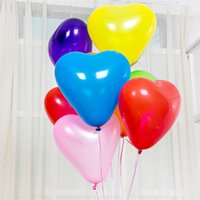 Wholesale 12 Inch Heart Balloon - Love Heart Color Balloon Wedding Gift Favors 12 inches Thick Emulsion Balloon Party Decoration Valentines Online