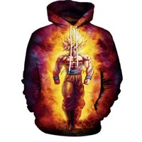 Mode Damen Herren Sweatshirt Anime Dragon Ball Z 3D Hoodies Cartoon Goku Grafik Kapuzenpulli Mantel Trainingsanzug Tops