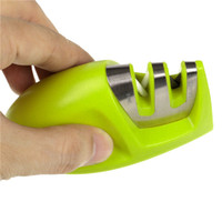Wholesale professional kitchen knife sharpener - Portable Kitchen Knife Sharpener Sharpening Tools For Knife Two Stages Diamond Sharpener Professional