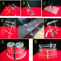 Wholesale E Cig Cigarette Style Batteries - various styles electronic cigarette stand holder Acrylic display case shelf holder display rack for ego battery atomizer tank e cig drip tip