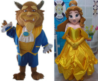 Wholesale Wholesale Party Mascot Costumes - princess belle the beauty and the beast mascot costume for adult to wear for sale for party