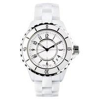 Wholesale Japan Quartz Watch Swiss - Luxury Swiss Brand fashion style womens dive watch white ceramic luxury lady watches japan quartz movement