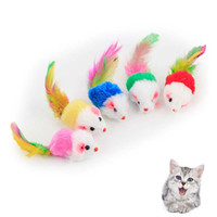 Wholesale Catnip Toys - fat cat toysLovely Mouse for Cat Dogs Funny Fun playing contain catnip toys Pet supplies Mixed color 100pcs lot