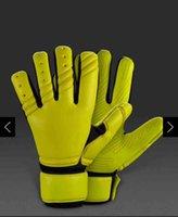 Wholesale Plain Gloves - Adult goalkeeper gloves soccer gloves football without fingersave Adulto luvas de goleiro Luvas de futebol Sem proteção de dedo full latex