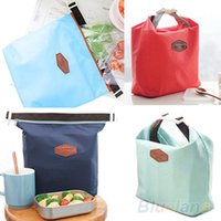 Wholesale Thermal Insulated Pouch - 10pcs Thermal Cooler Insulated Waterproof Lunch Carry Storage Picnic Bag Pouch lunch bag 12VV