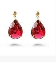 Wholesale Earings Color Diamond - more color diamond waterdrop women's earings (2.8*1.5cm) ( ma52)