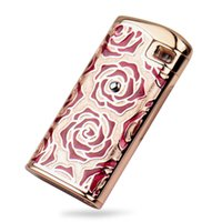 Wholesale Lady Lighters - Lady Women Jet Hot Pink Flame Touch Sensor Windproof Gas Cigarette Cigar Lighter