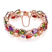 Wholesale Channel Stocks - (In stock)Monalisa color Zircon Bracelet, colorful rose gold bracelet is not easy to fade Jewelry Bracelet