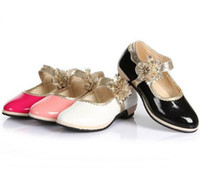 Wholesale Shoe Wraps For Dance - 2016 children kids princess shoes children high heel shoes dancing shoes for princess girls shoes size 26-36