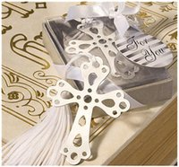 Wholesale Order Bookmarks Favors - 2015 Fashion Special Design wedding decoration 10PCS Cross Bookmark wedding baby shower party favors gifts order<$15 no tracking