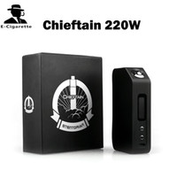 Originale Wotofo Chieftain 220W Temperatura Control Box Mod visualizzazione del sistema operativo 5W-220W Display a LED Palm Dimensioni enorme potere e del vapore