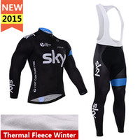 Cheap Full 2015 cycling thermal Bib kits Best Quick Dry Men thermal fleece jersey