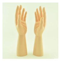 Wholesale Bracelet Display Hand - New Arrival Laft And Right One Pair PVC Male Mannequin Hand Man For Gloves Display