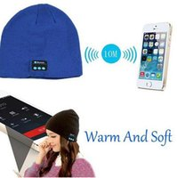 Wholesale Shipping Fashion Speakers - Fashion Soft Warm Beanie Hat Wireless Bluetooth Smart Cap Headphone Headset Speaker Mic for Men Women hat cap Free Shipping