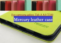 Wholesale New Mercury Fancy Diary - 100pcs lot For samsung galaxy Tab A 8.0 T350 Contrast Color Mercury New Fancy Diary Mercury leather Case, Free Shipping