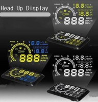 Wholesale Engine Hud - Multi Function OBD2 W02 HUD Car Head Up Display System Speed & Engine Details Showing OBD II For Night & Overspeed & Fresh Driving