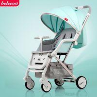 свет брать оптовых-Детская коляска BELECOO Ultra-Light, портативная детская коляска, 4-колесная подвесная коляска, может сидеть, лежать, лететь на самолет