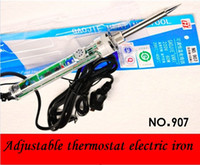 Wholesale Temp Adjustable Iron - Original 220-240V 60W Electric Soldering Iron Adjustable Temp 200~400 Celsius Internal heating Solder Heat up fast Welder Tools
