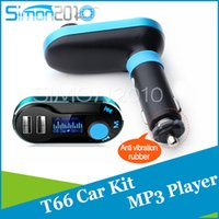 Wireless T66 MP3-Player Auto-Kit FM Transmitter mit Auto Audio Fernbedienung LCD-Bildschirm