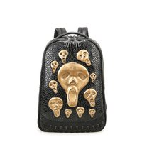Wholesale Alternative Media - Fashion trends Alternative personality leather backpack girly backpacks for high school book bags for high school students