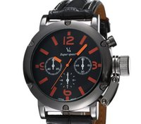 Wholesale Hour Glasses - Hot sale New V6 Casual Quartz Men Watches Military Sport Special Wristwatch Dropship leather Clock Fashion Hours Dress Watch CHRISTMAS GIFT