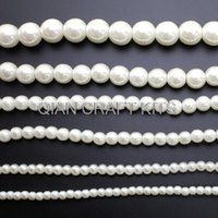 Wholesale Ivory Faux Pearl Necklace - 500pcs mixed sizes Vintage Plastic Shiny Ivory or White Pearl Beads, (4mm-16mm) Faux Pearls For Flapper Style Necklace
