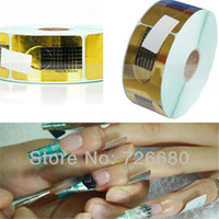 Wholesale Professional Nail Art Decals Wholesale - Free Shipping! Wholesale 100Pcs Professional Nail Art Tool Tips Golden Extension Forms Guide French Acrylic UV Gel 131-0004-1