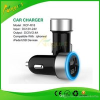 Wholesale Ecigarette Usb - dual double car usb charger for iphone for ipad for usb devices for HTC ego ecigarette