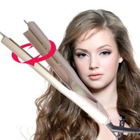 Wholesale Logo Au - Stocking!Gold colors Iron Hair Straightener Iron Brush 2 In 1 Hair Straightening Curling Irons Hair Curler EU US Plug with LOGO