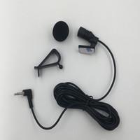 ingrosso 3,5 mic-Microfono esterno stereo da 3,5 mm con mini microfono auto cablato da 3 metri per microfono per auto con lettore DVD e lettore DVD GPS