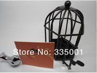 "Wholesale Love Songs Birdcage - Free shipping Factory directly sale 10pcs lot Wedding favor""Love Songs"" Birdcage soy Tea Light Place Card Holder 052929"