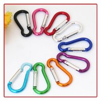 Wholesale rock climbing keyrings for sale - Group buy Carabiner Ring Keyrings Outdoor Sports Camp Snap Clip Hook Keychains Hiking Aluminum Metal Stainless Steel Hiking Camping Carabiners