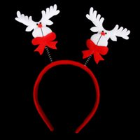 Wholesale Cheap Promotion Toys - New Promotion Christmas Gifts Toy Christmas Hair Hoop Santa Claus Snowman Deer Beer Headband Christmas Decoration Cheap Price CW0346
