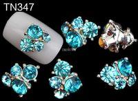 Wholesale Alloy Stone Art - 20pcs Rhinestones 3D Nails Art Styling Tools Stones Crystal Alloy Nail Decoration Jewelry Colourful Glitter Nail DIY TN347-TN351