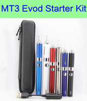 Wholesale Ego Vaporizer Starter Kits - MT3 EVOD Zipper kit eGo starter kits single kits e cigarette starter kits EVOD battery MT3 vaporizer