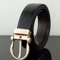 Wholesale 38 pin - 2017 Belts for men brand designer pin buckle alloy gold silver men's belt male chastity belts high quality plain mens genuine leather belt